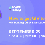 CryptoLocally Announces The Start Of The GIV Bonding Curve Distribution Event